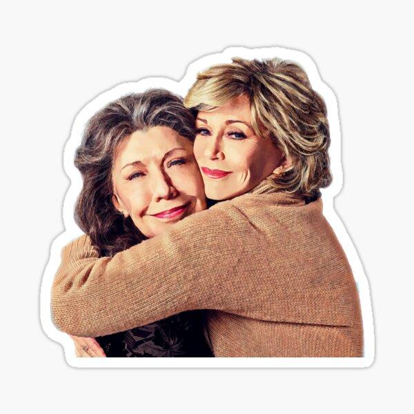 Grace and Frankie Hug Sticker