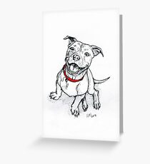 Happy Staffie Greeting Card