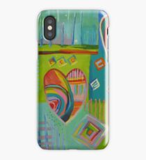 Playful Abstract Rainbow Hearts iPhone Case/Skin