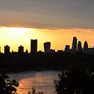Sunset London skyline by Sparowsong