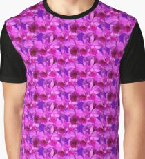 Natural Blooming Flowers - Violet Cattley Orchids Graphic T-Shirt