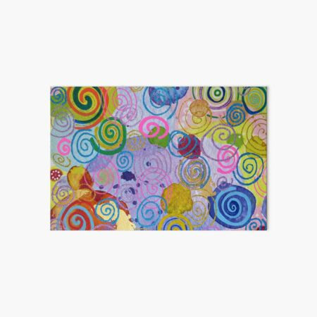 Circles and Swirls Art Board Print
