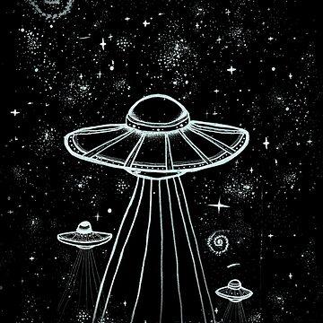 ALIEN UFO ART by violenxe