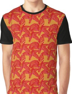 Natural Blooming Flowers - Red and Orange Crocosmia Graphic T-Shirt