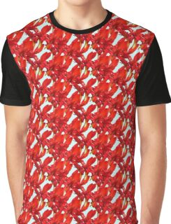 Natural Blooming Flowers - Blue and Red Crocosmia Graphic T-Shirt
