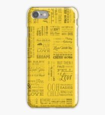 80s Song Lyrics iPhone Case/Skin