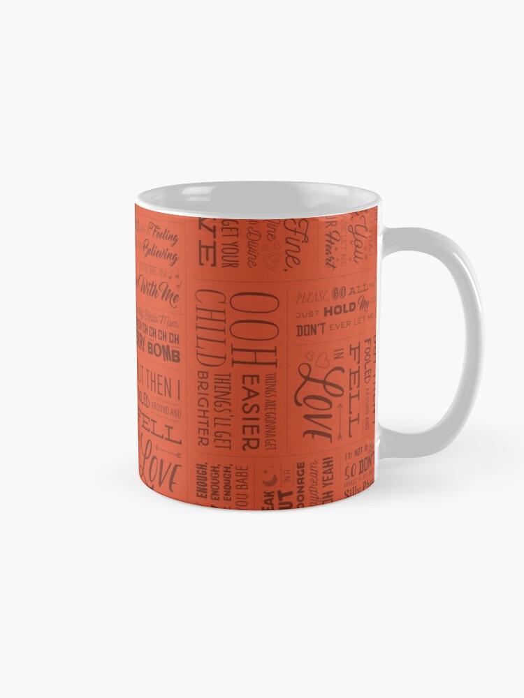 80s Song Lyrics | Mug