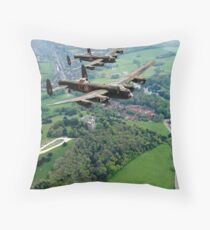 Two Lancasters over West Wycombe Throw Pillow