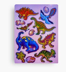 Several colorful dinosaurs Canvas Print