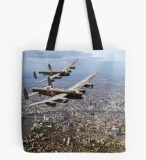 Two Lancasters over London Tote Bag