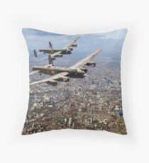 Two Lancasters over London Throw Pillow