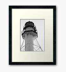 Lighthouse White Fish Point Framed Print