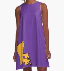 Baton Rouge Louisiana Tiger A-Linien Kleid