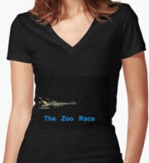 Zoo Rockets Women's Fitted V-Neck T-Shirt