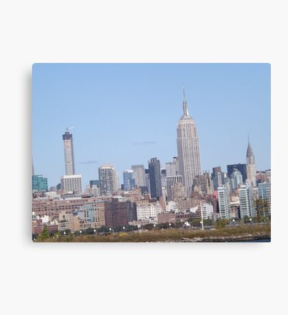 432 Park Avenue Skyscraper, Empire State Building, Chrysler Building, View from Jersey City, New Jersey Canvas Print