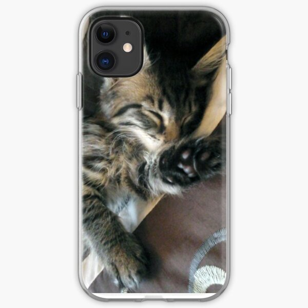 Talk to the paw, i'm sleeping! iPhone Soft Case