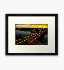 360 Bridge or Pennybacker At Sunset with Golden Highlights Framed Print