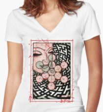 Buddha  Women's Fitted V-Neck T-Shirt
