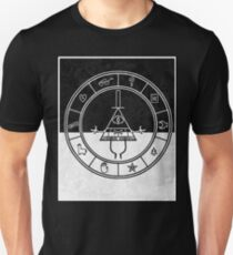 gravity falls bill cipher wheel card T-Shirt