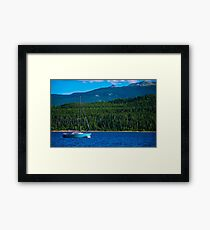 Sailboat on Twin Lake in Colorado Mountain Paradise Framed Print