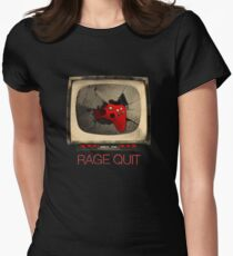 RAGE QUIT Womens Fitted T-Shirt