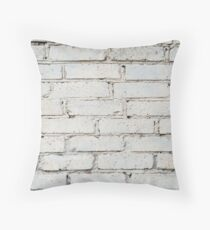 Soft image of a background of gray brick wall Throw Pillow