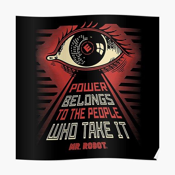 Le pouvoir appartient au peuple qui le prennent Poster
