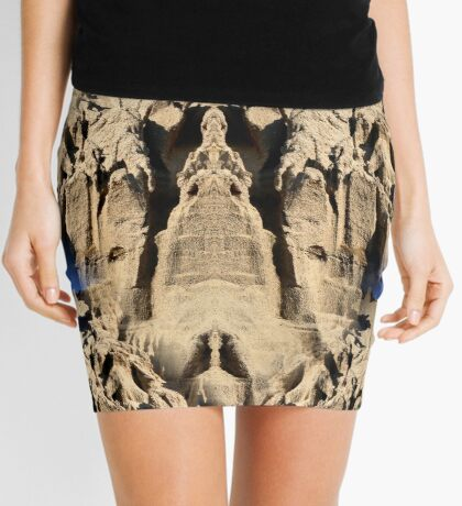 Patterns In Sand Abstract Mini Skirt