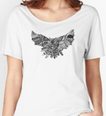 Geometric Owl Pattern Women's Relaxed Fit T-Shirt