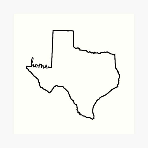 Texas Home Gliederung Kunstdruck