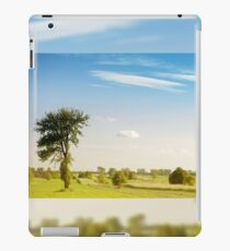Rural grassland trees view iPad Case/Skin