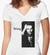 sting tour date time 2016 at4 Women's Fitted V-Neck T-Shirt