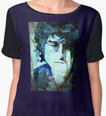 Bob Dylan Women's Chiffon Top