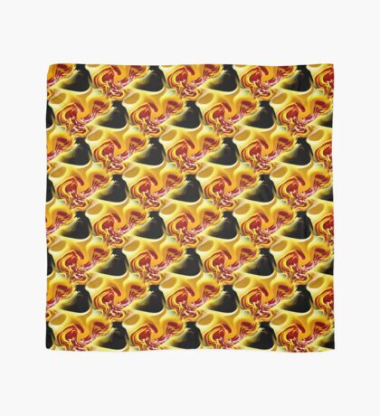 Red Spots On Yellow Abstract Design Scarf