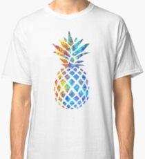 Rainbow Watercolor Pineapple Classic T-Shirt
