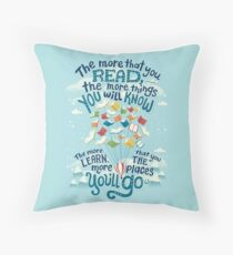 Go places Throw Pillow