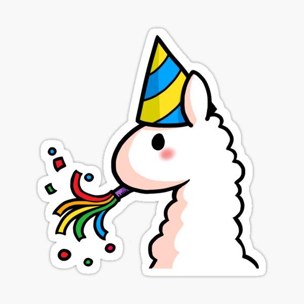 Feliz cumpleaños Llama Pegatina