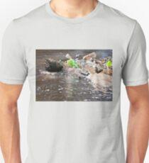 plastic bottles garbage damage river  T-Shirt
