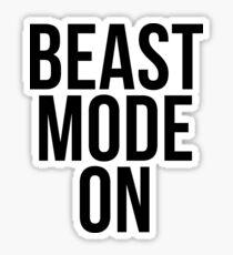 Beast mode ON Sticker