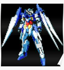 8bit Retro Robot with wings  Poster