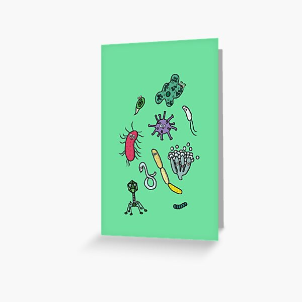 Cute Microbiology 2 Greeting Card