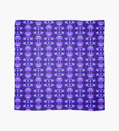 Blue Iris Flower Abstract Design Scarf