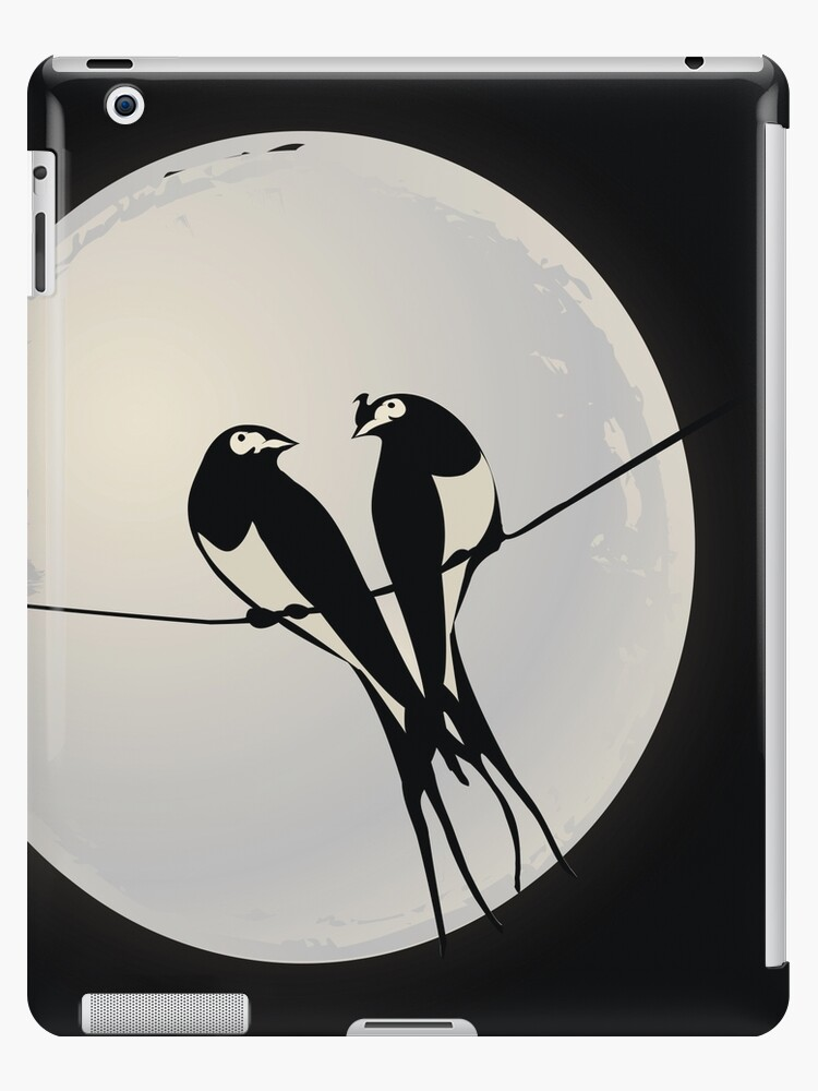 Birds on a wire by Richard Laschon