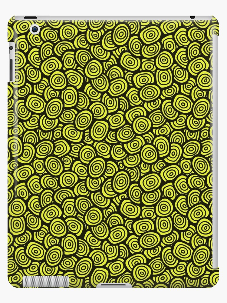 Simple Doodle Green Pattern Abstract Seamless Background Nature Wallpaper Ipad Caseskin By Illucesco