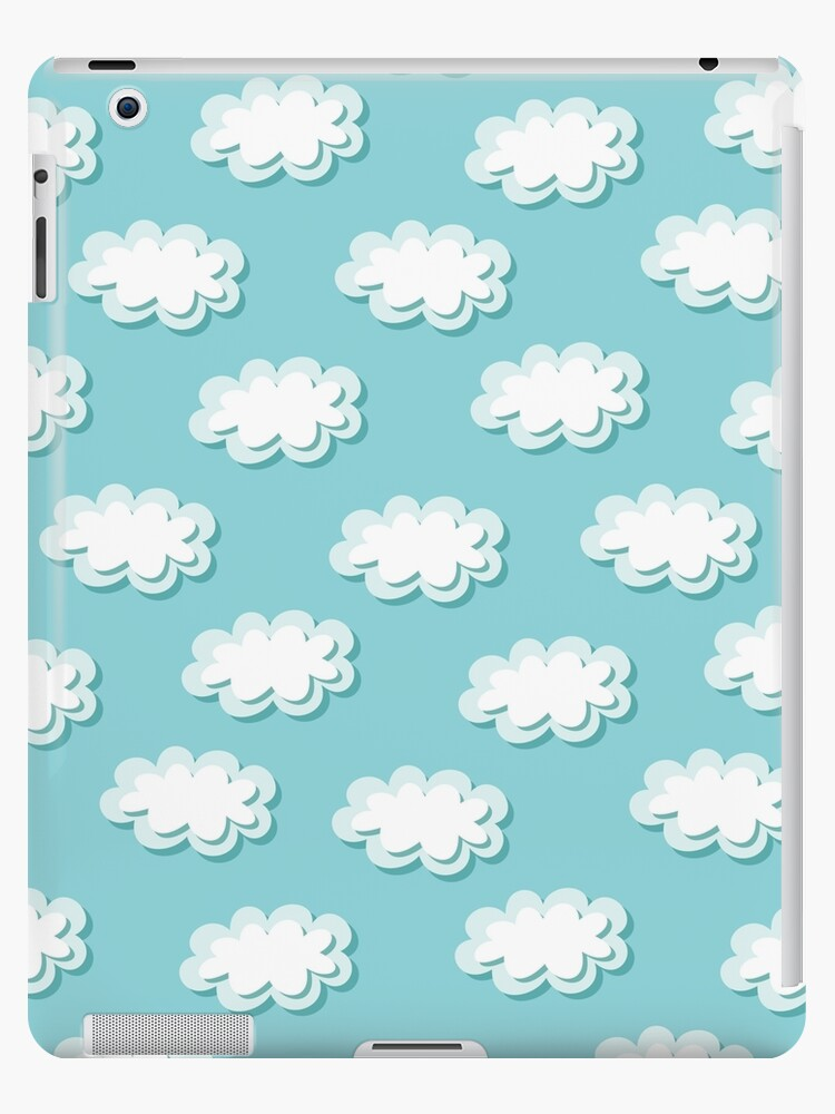 Simple Clouds Pattern Seamless Cute Background Kids Wallpaper