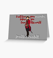 Outlander series - Jonathan Randall Greeting Card