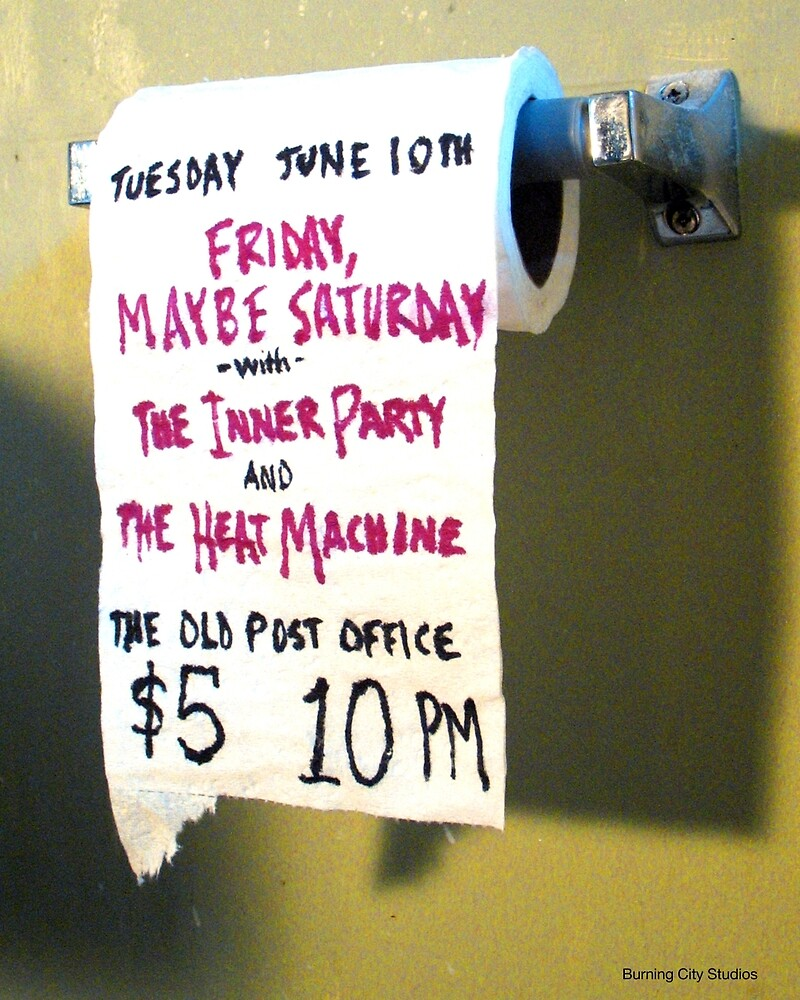 The Inner Party Show Flyer - June 10, 2008 - V1 by BurningCity