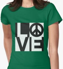 Love Equals Peace Womens Fitted T-Shirt