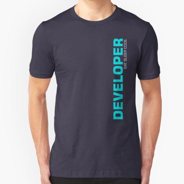 Eat Sleep Code Repeat Developer Programmer Slim Fit T-Shirt