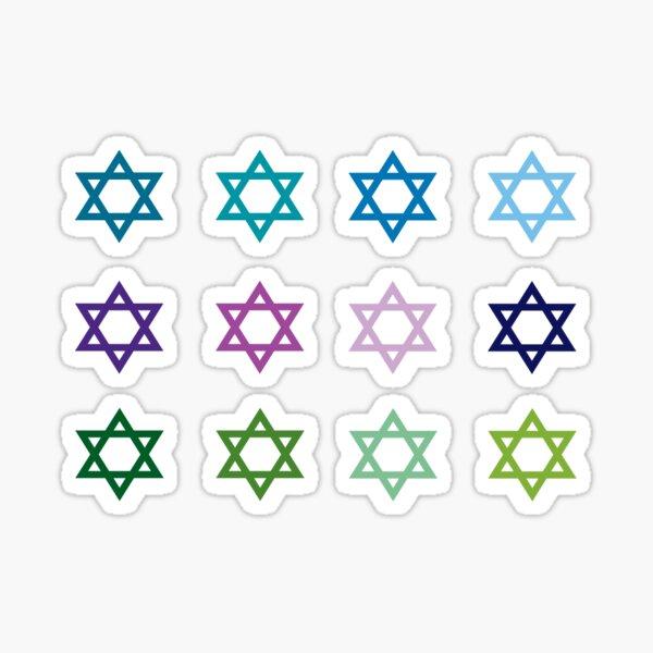 Jewish Stars Sticker
